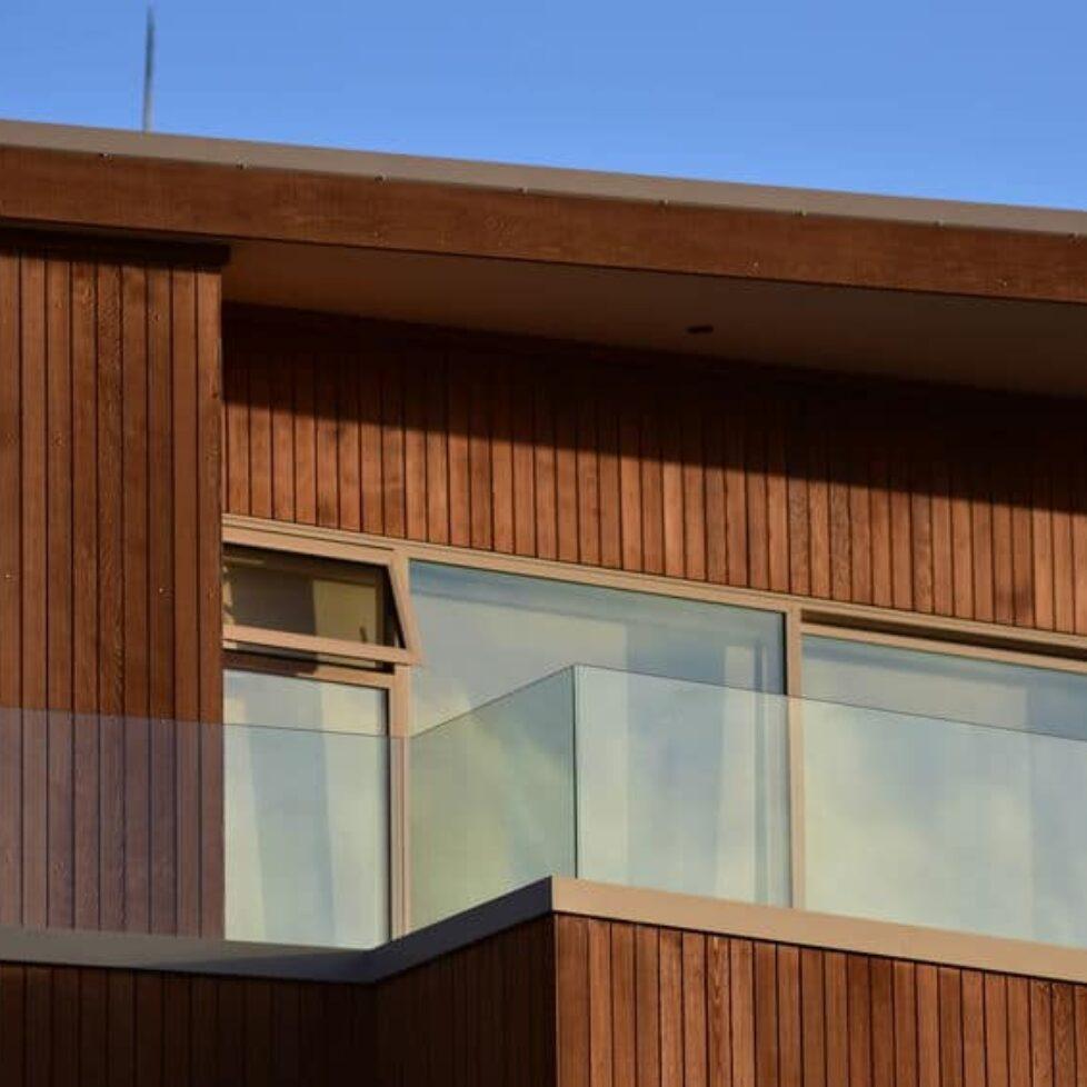 Modern wooden house detail